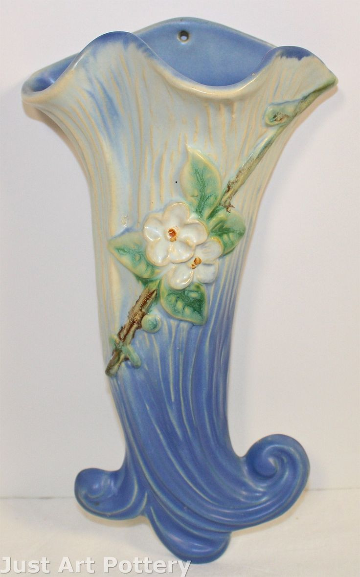 van briggle calla lily vase of 177 best wall vases images on pinterest wall pockets wall vases with regard to weller pottery roba blue wall pocket from just art pottery