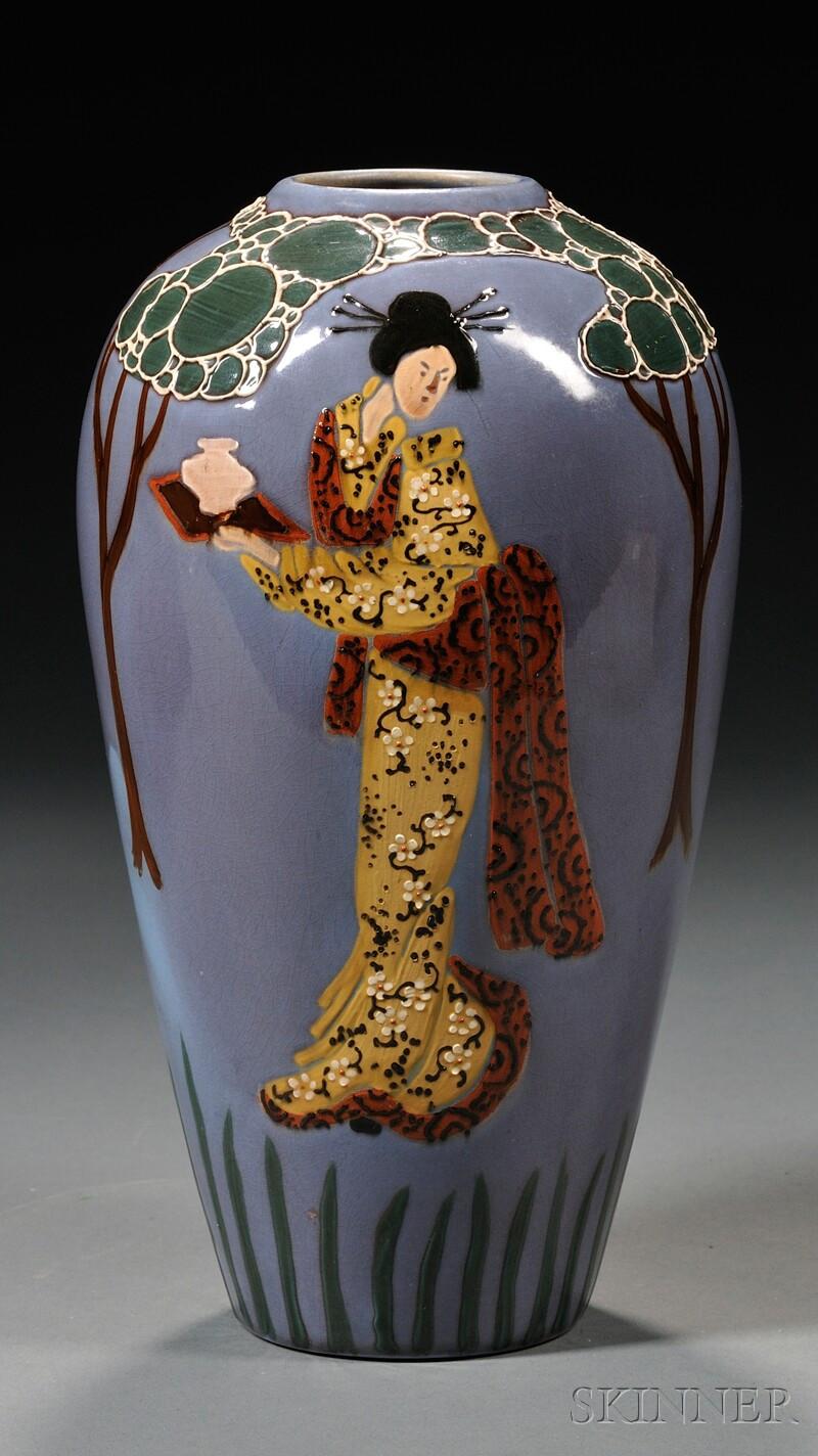 van briggle lorelei vase for sale of weller jap birdimal vase sale number 2577b lot number 60 in weller jap birdimal vase