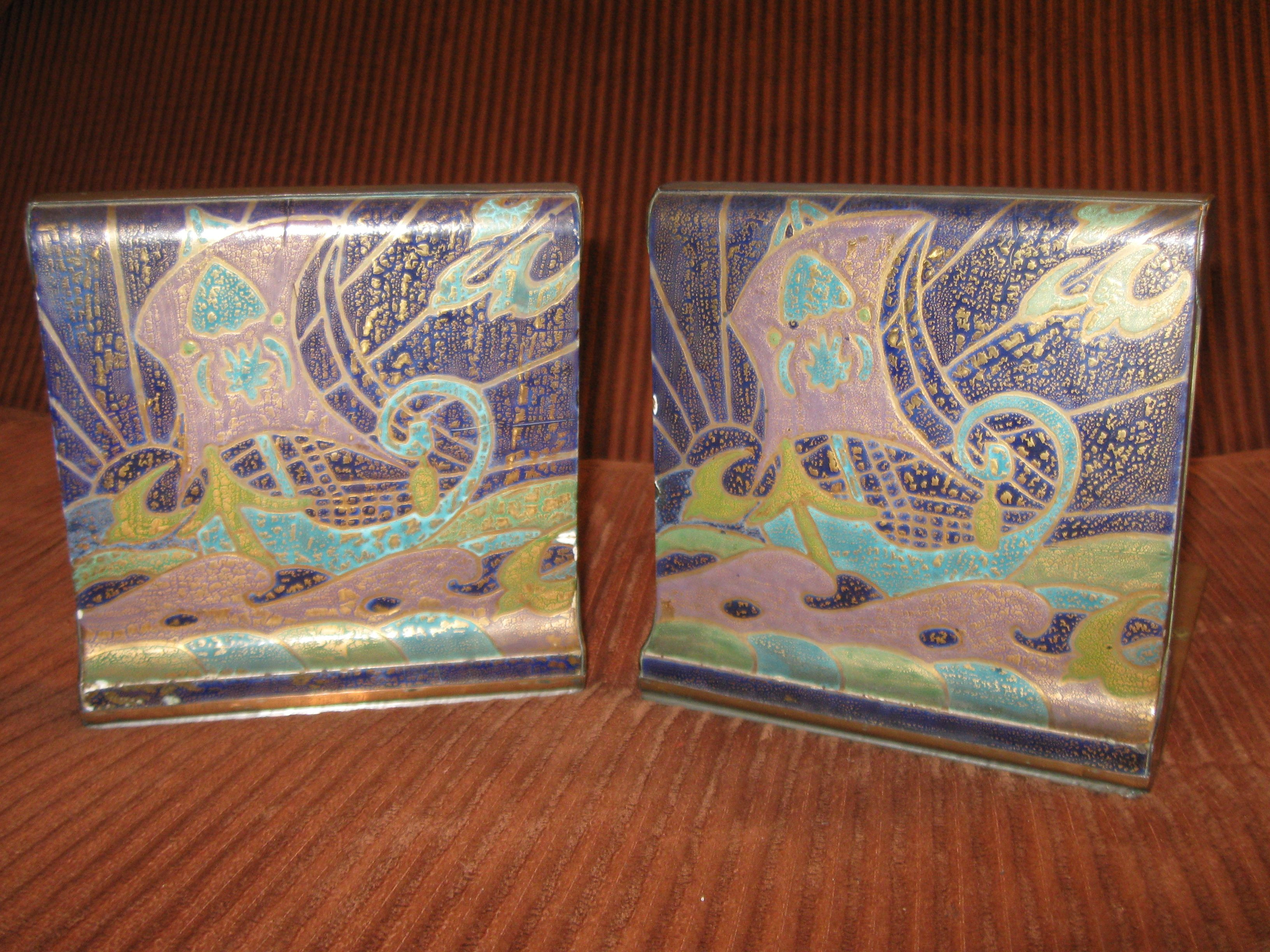 van briggle vase antiques roadshow of dirk van erp tile bookends circa 1920 arts and crafts style pertaining to dirk van erp tile bookends circa 1920