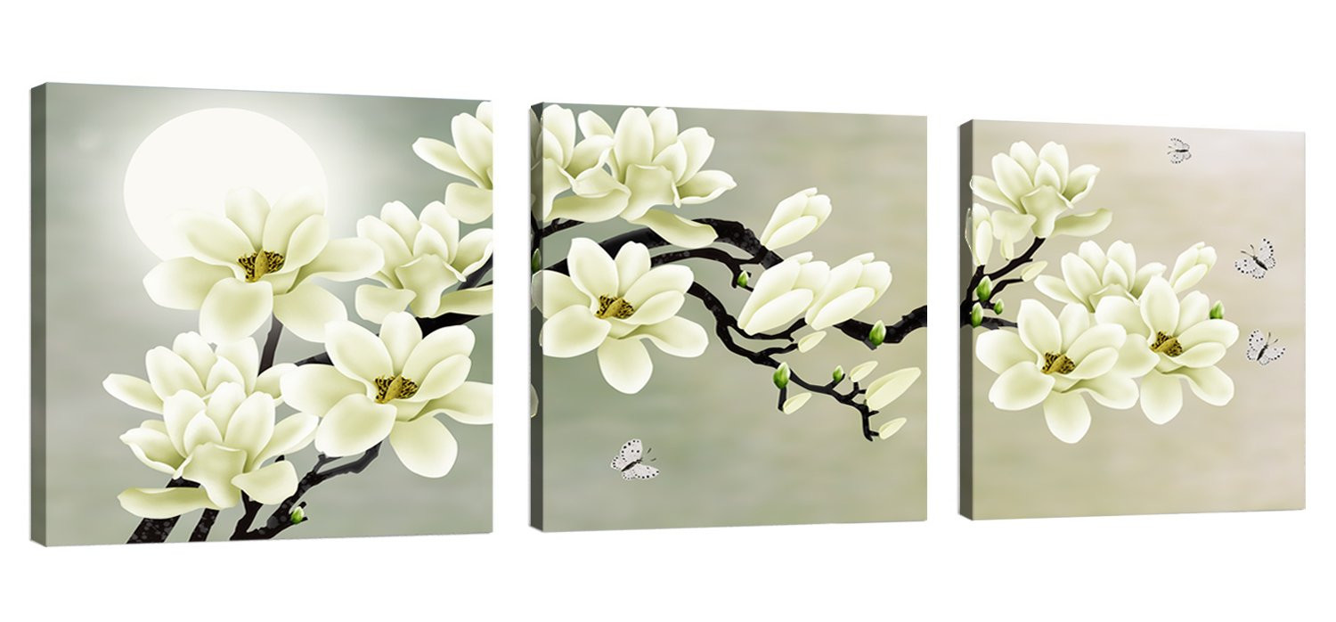 van gogh flowers in a blue vase of amazon com canvas wall art almond blossoms van gogh modern art in natural art white magnolia butterfly under the moon modern giclee canvas prints paintings to
