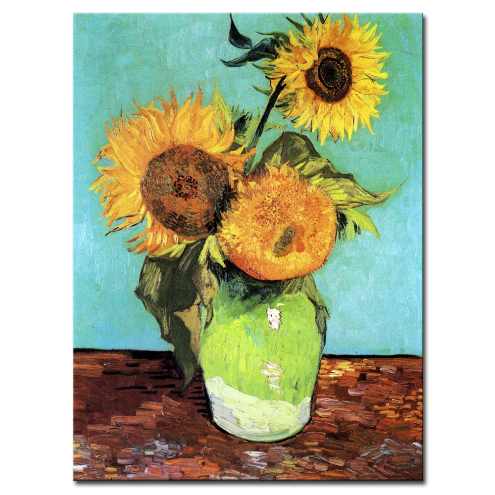 van gogh flowers in a blue vase of van gogh canvas art print painting sunflower picture post regarding van gogh canvas art print painting sunflower picture post impressionism flower artwork for living room wall decoration 1 piece in painting calligraphy