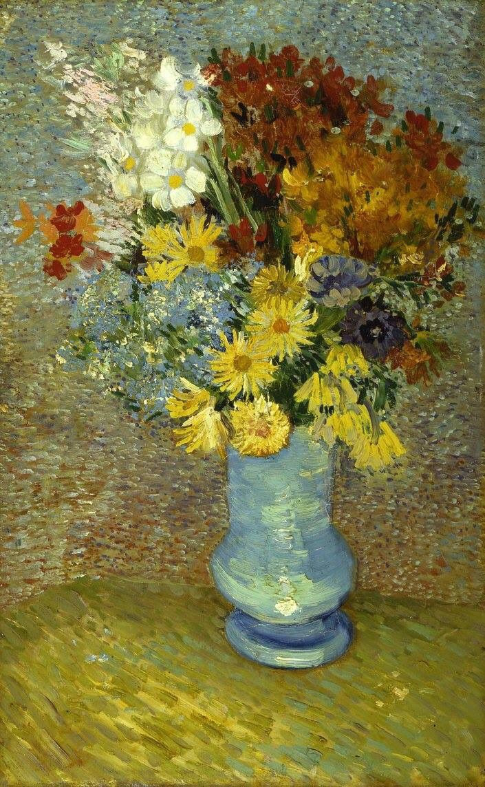 van gogh flowers in a blue vase of vincent van goghi¼ˆdutch 1853aƒ¼1890i¼‰a€Œflowers in a blue vasea€i¼ˆc regarding vincent van goghi¼ˆdutch 1853aƒ¼1890i¼‰a€Œflowers in a blue vasea€