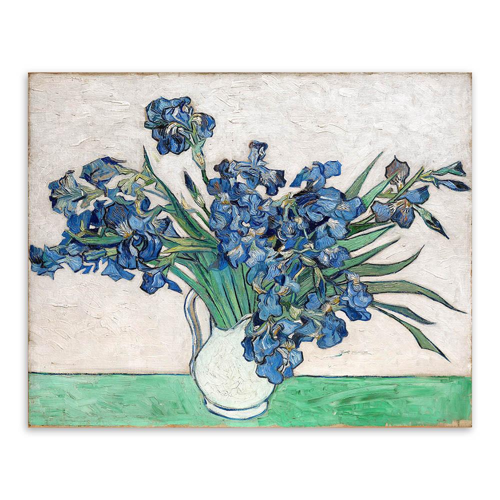 van gogh irises in vase of vincent van gogh irysy nowoczesne niebieskie kwiaty plakat drukuje throughout vincent van gogh irysy nowoczesne niebieskie kwiaty plakat drukuje oryginalny kwiatu wazon obrazy olejne na pa'a³tnie sypialnia wall art decor prezenty w