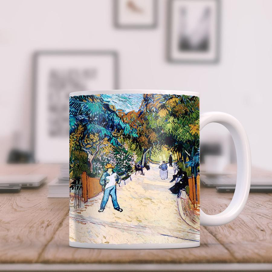 van gogh vase of roses of products page 674 trektumblers for van gogh entrance to the public gardens in arles 11oz coffee mug