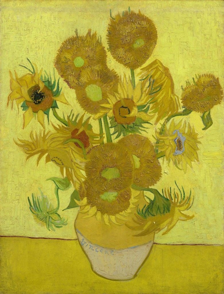 van gogh vase of sunflowers of a brief history of color in art sunflowers van gogh and van gogh intended for sunflowers