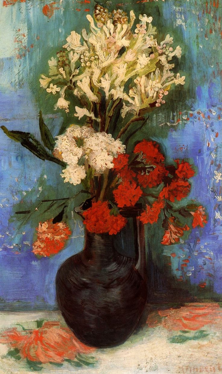 van gogh vase with cornflowers and poppies of 77 best vincent images on pinterest impressionism artworks and with vincent van gogh vase with carnations and other flowers 1886 http