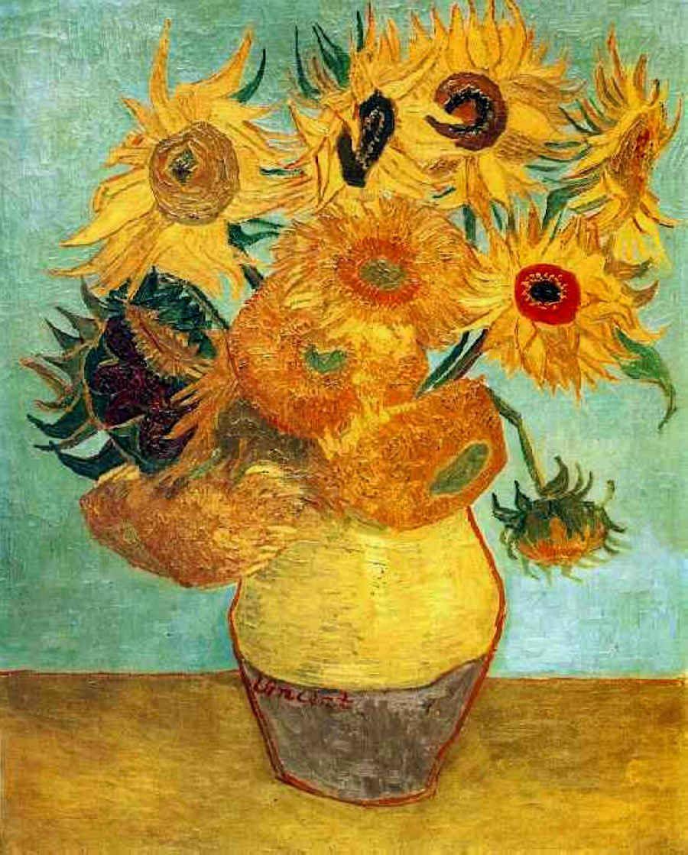 van gogh vase with cornflowers and poppies of famous paintings v pinterest van gogh van gogh paintings and intended for famous artwork van gogh sunflowers