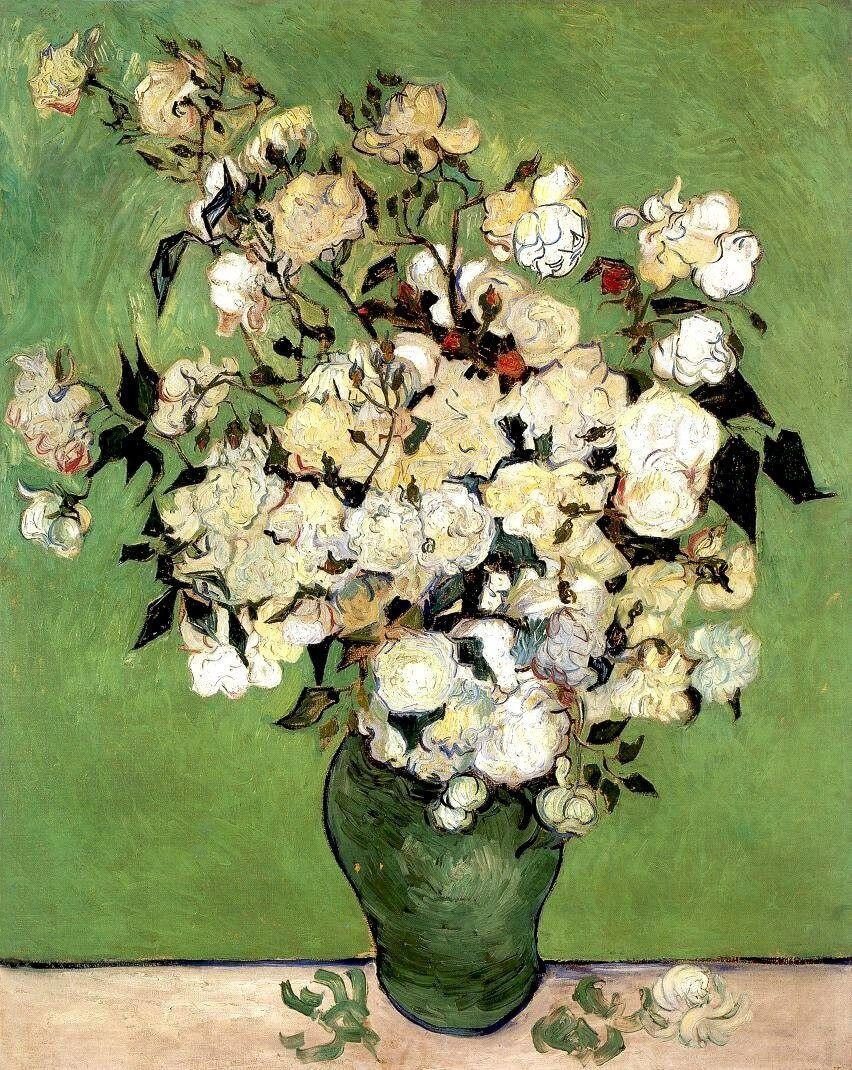 van gogh vase with flowers of vincent van gogh a vase of roses 1890 vincent van goghsize with vincent van gogh a vase of roses 1890 vincent van goghsize
