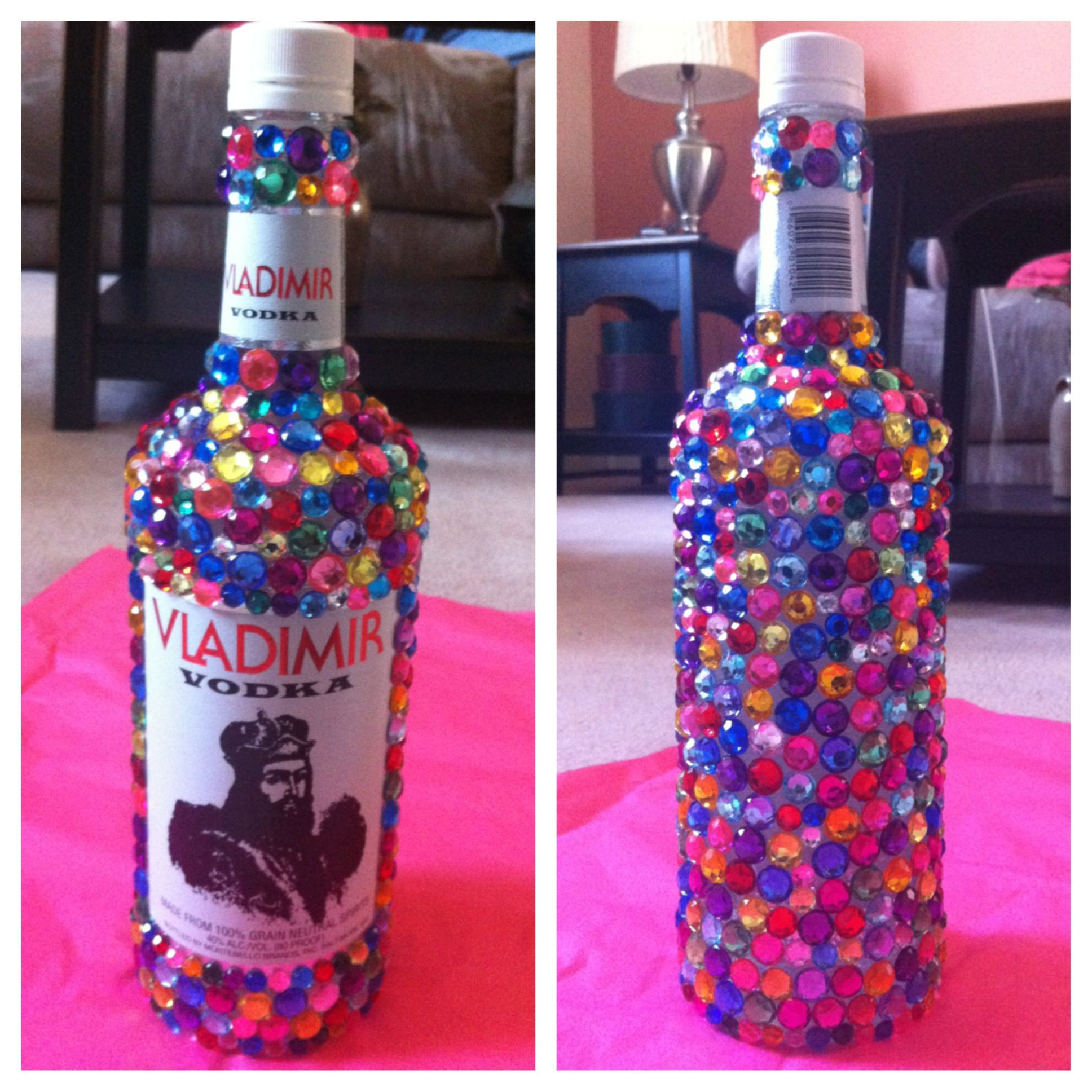 vase filler beads michaels of bedazzled alcohol bottle for a 21st birthday easy to make 1 buy for buy bottle of choice and gems michaels hobby lobby ac moore etc 2 apply generous amount of mod podge 3