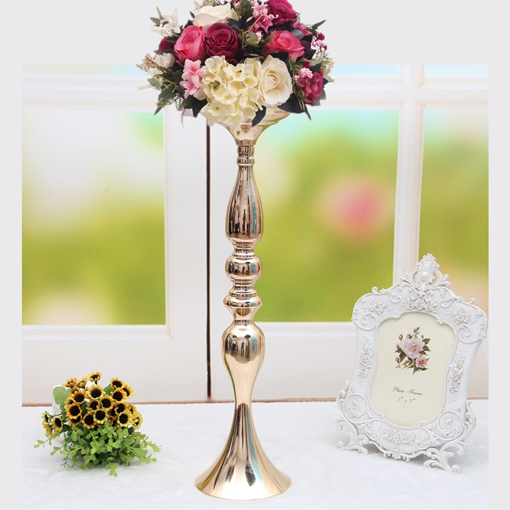 vase flower holder of 3 colors metal candle holders 50cm 20 flower vase rack candle stick with 3 colors metal candle holders 50cm 20 flower vase rack candle stick wedding table centerpiece event road lead candle stands in candle holders from home