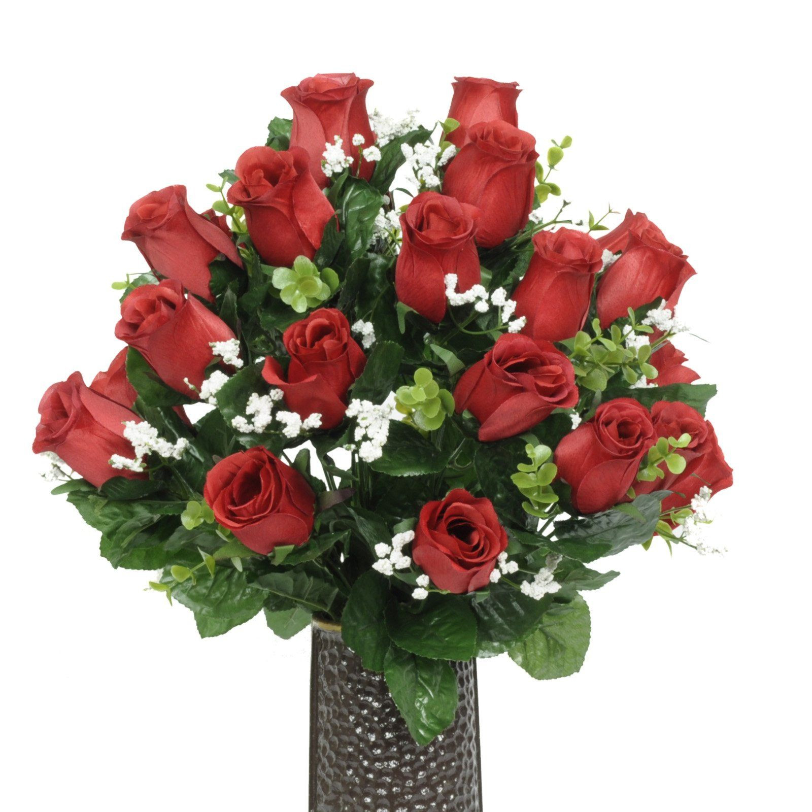 vase flower holder of red rose silk flower bouquet with stay in the vasea design flower within red rose silk flower bouquet with stay in the vasea design flower holder sm1584