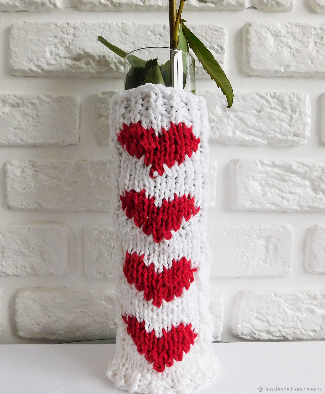 vase for 100 roses of heart knitted vase transformer for roses shop online on livemaster regarding phase 2 put on a knitted glass vase pour water into it put