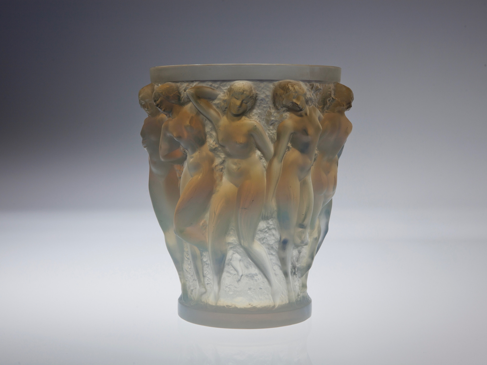 vase lalique les bacchantes of rena lalique bacchantes crystal glass vase with opalescent shine pertaining to tap to expand