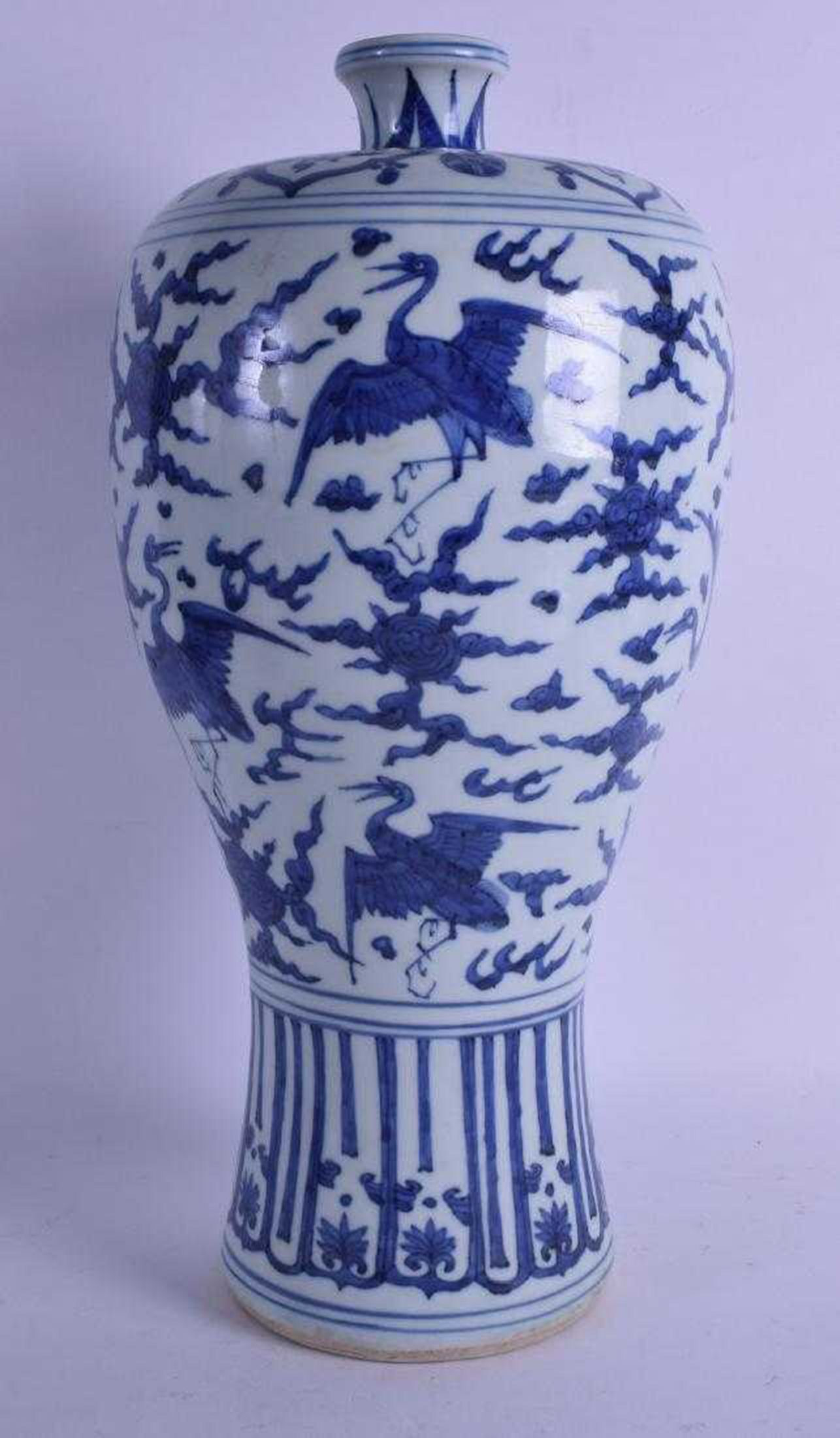 vase made in germany of large chinese blue and white meiping vase throughout 45 1