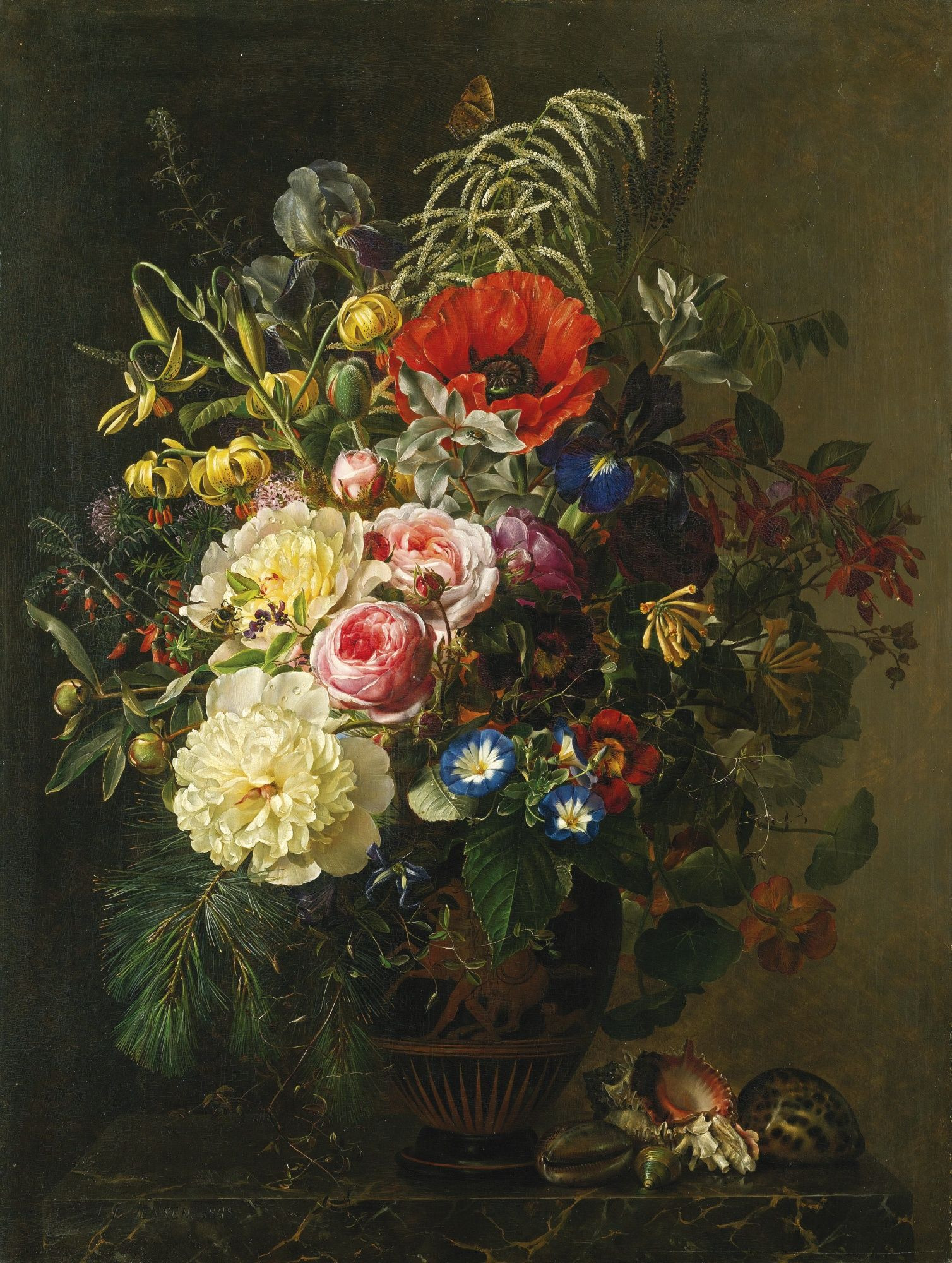 24 Spectacular Vase Of Flowers by De Heem Mural