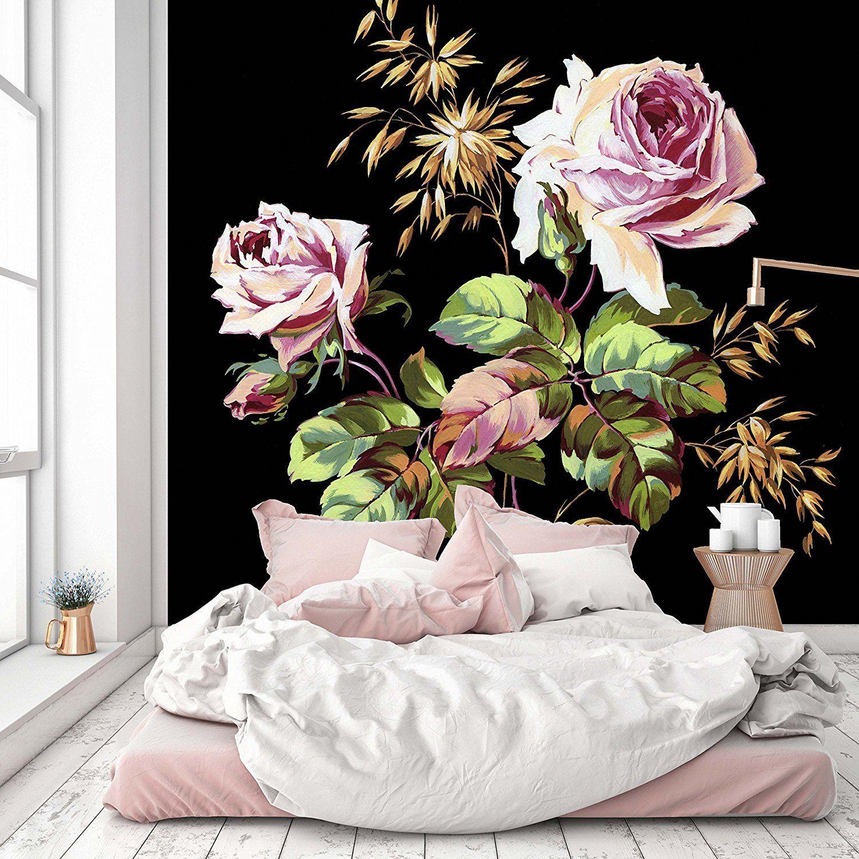vase of flowers by de heem mural of removable wallpaper mural peel stick vintage floral art 112w x with regard to removable wallpaper mural peel stick vintage floral art 112w x 112h inches