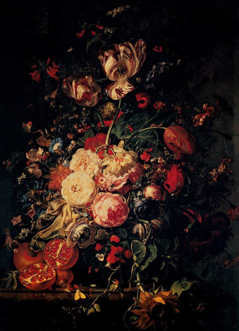 vase of flowers de heem of baroque still life blog spot regarding she specialized in painting flowers and jan van huysum another well known still life painter followed her style also she is