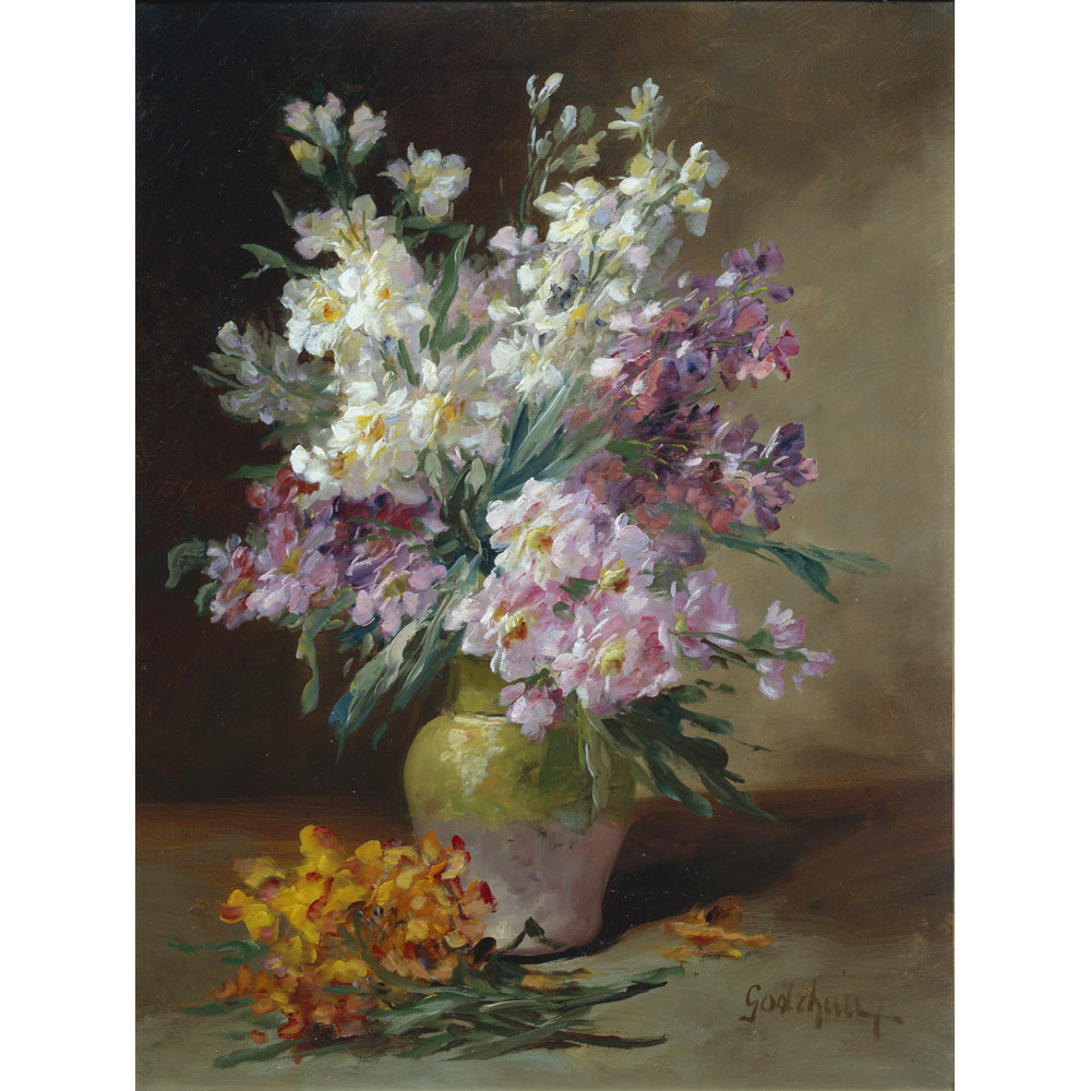 vase of flowers de heem of summer flowers in a vase throughout alfred godchaux summer flowers in a vase