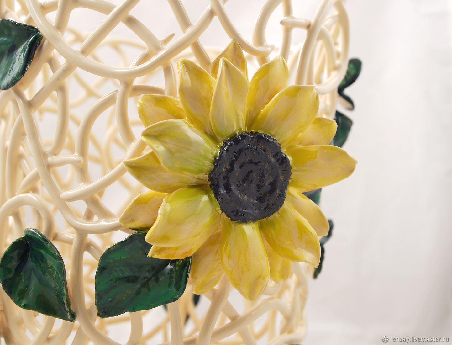 vase of sunflowers of wicker vase sunflower cone height 25 cm shop online on inside height 25 cm ceramic vase from the collection of sunflowers truncated cone height 25 cm