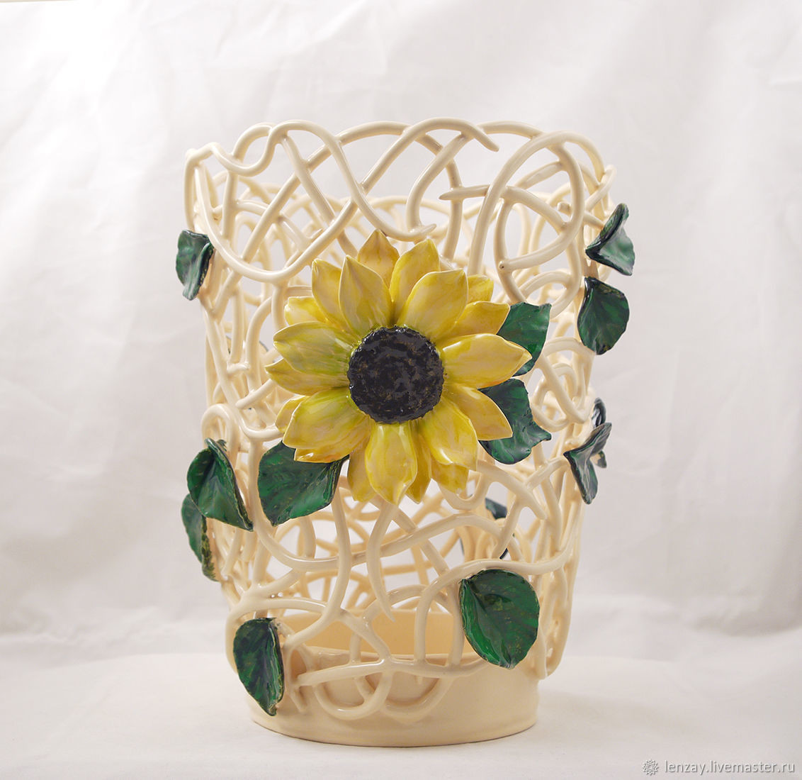 vase of sunflowers painting of wicker vase sunflower cone height 25 cm shop online on for ceramic vase from the collection of sunflowers truncated cone