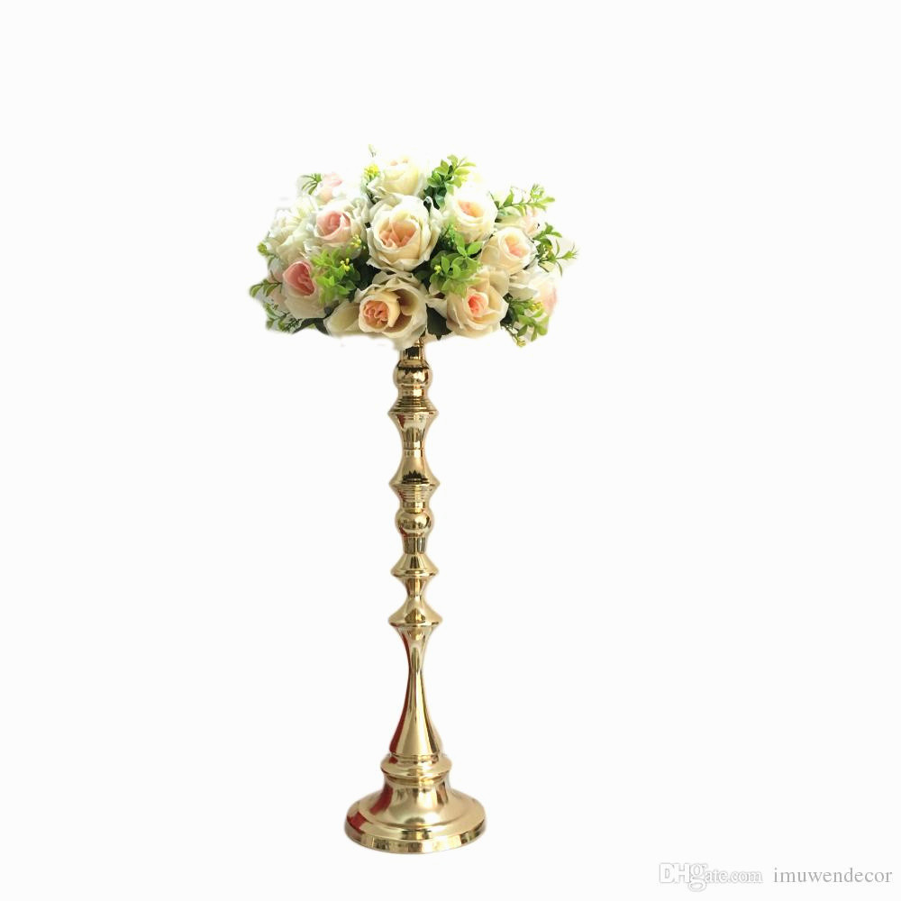 Vase Table Stand Of New 53 Cm Tall Gold Candle Holder Candle Stand Wedding Table with 53 Cm Tall Gold Candle Holder Candle Stand Wedding Table Centerpiece