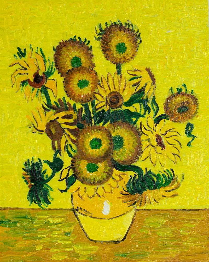 vase with fifteen sunflowers of vase with fifteen sunflowers vincent van gogh inside vase with fifteen sunflowers