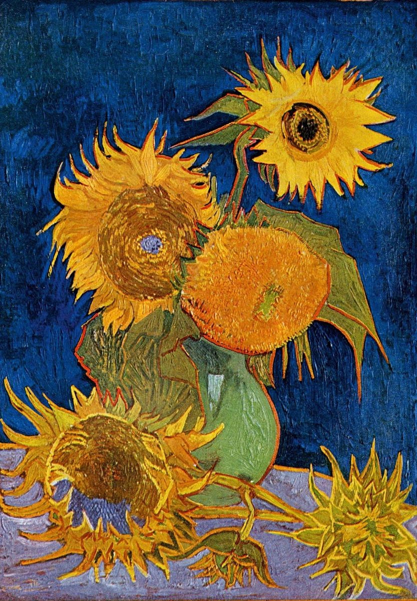 Vase with Fifteen Sunflowers Of Vase with Five Sunflowers by Vincent Van Gogh History Analysis Facts Regarding Vincent Van Gogh Vase with Five Sunflowers
