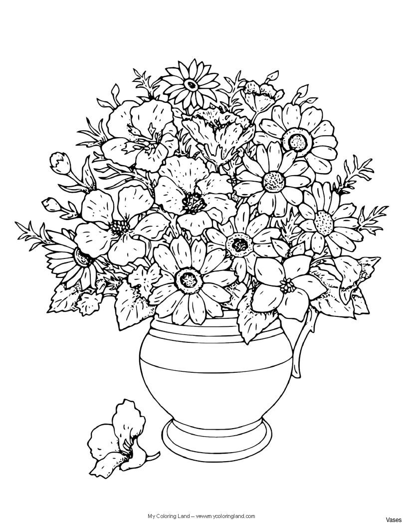 vase with flowers in water of cool vases flower vase coloring page pages flowers in a top i 0d inside flower coloring book pages flower coloring pages vase with rosesh vases flowers in cool