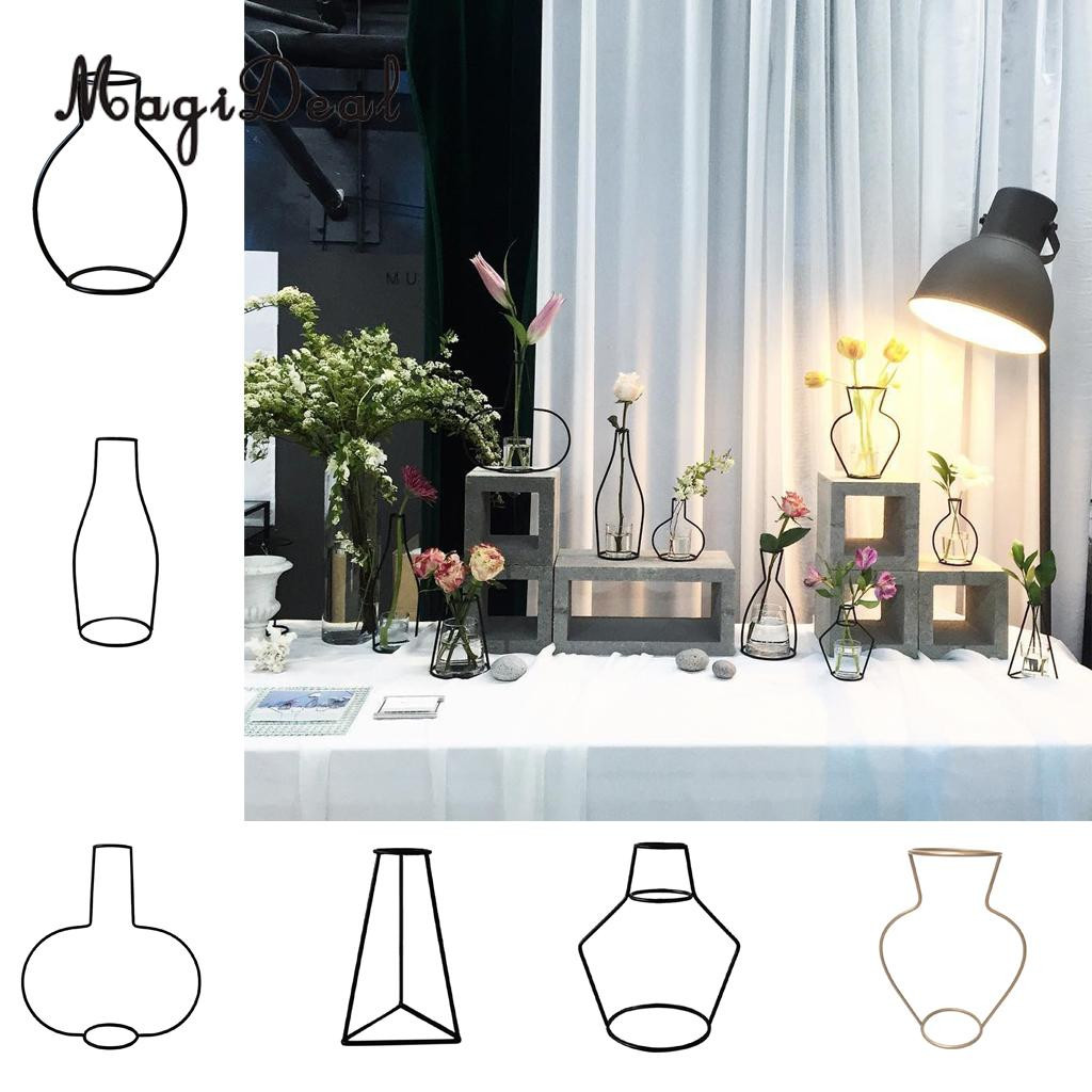 vase with iron stand of magideal metal iron diy vase frame flowers stand plant holder flower within magideal metal iron diy vase frame flowers stand plant holder flower pot home table decor in vases from home garden on aliexpress com alibaba group