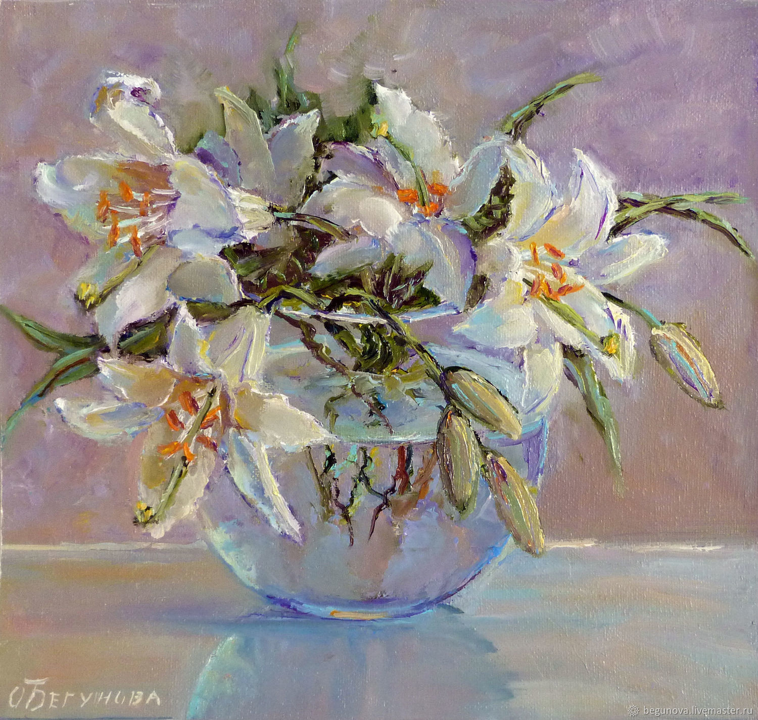 Vase with Lilies Of Oil Painting Flowers White Liliespainting the Lilies the Lilies Intended for Flower Paintings Handmade Livemaster Handmade Buy Oil Painting Flowers White Lilies