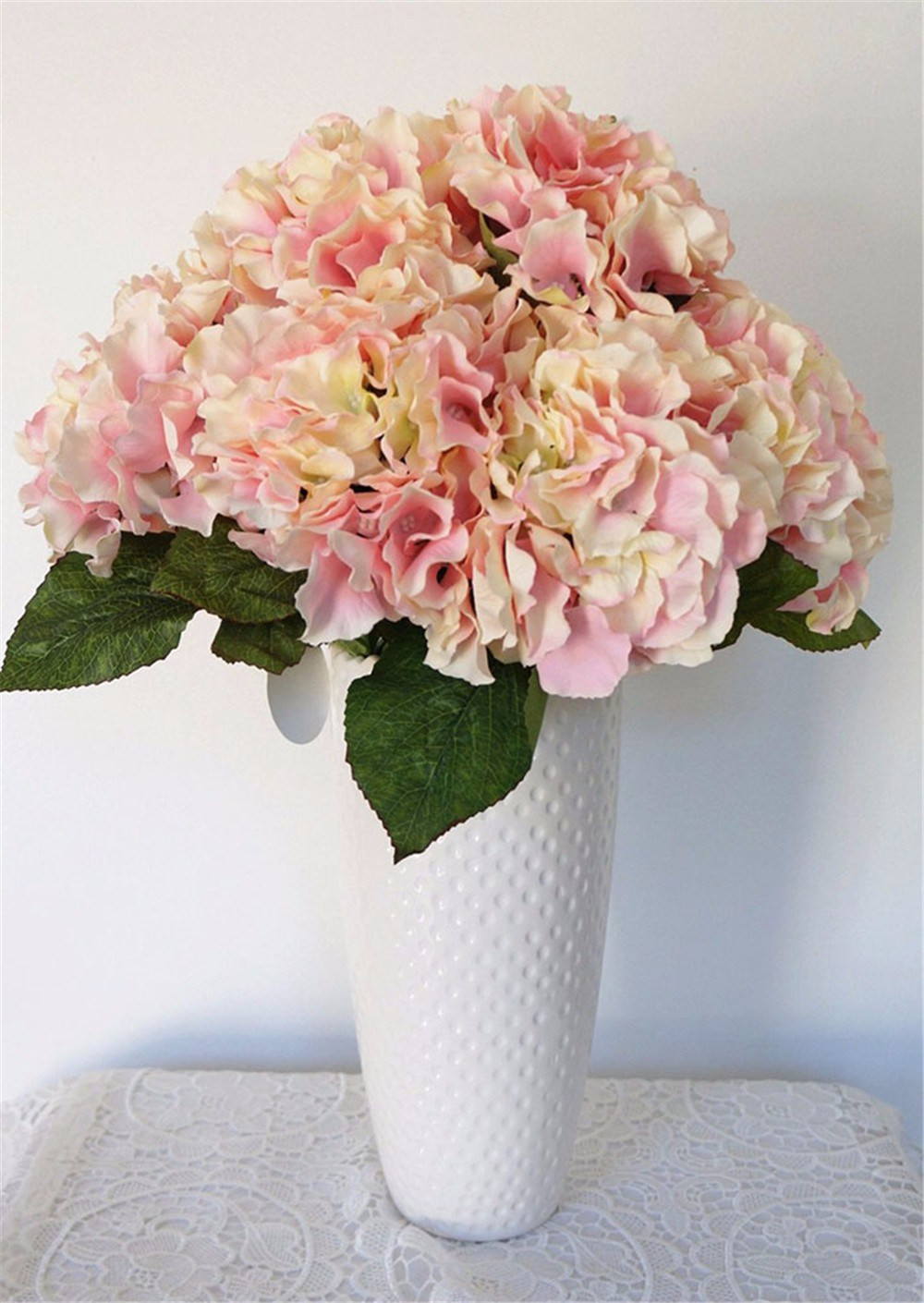 Vase with Pink Roses Van Gogh Of Aƒ5 Heads Real touch Artificial Fake Silk Flower Bunch Hydrangea for B5 9385 2