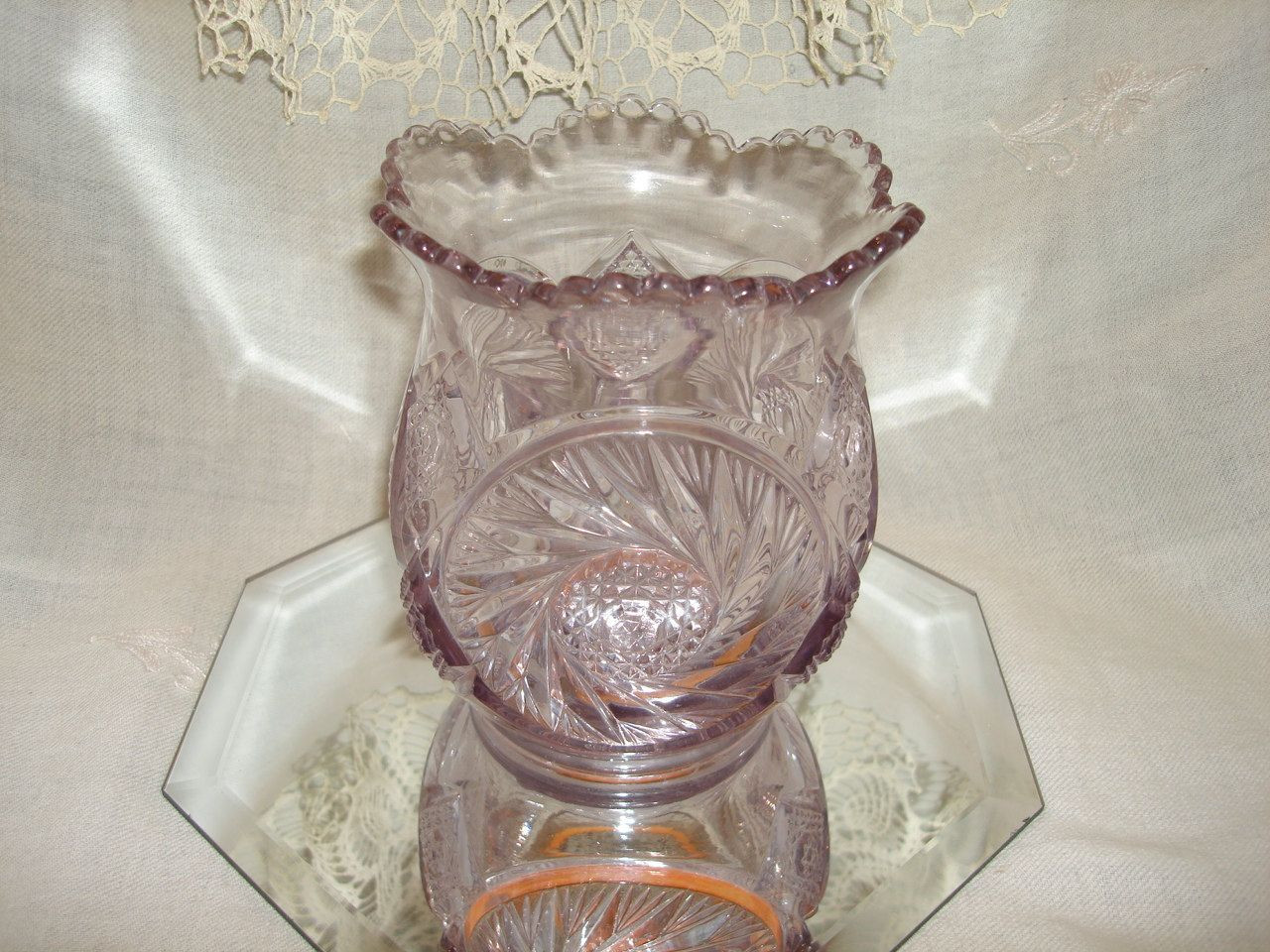 vase with rope handle of purple amethyst depression glass vase lavender purple depression intended for purple amethyst depression glass vase lavender