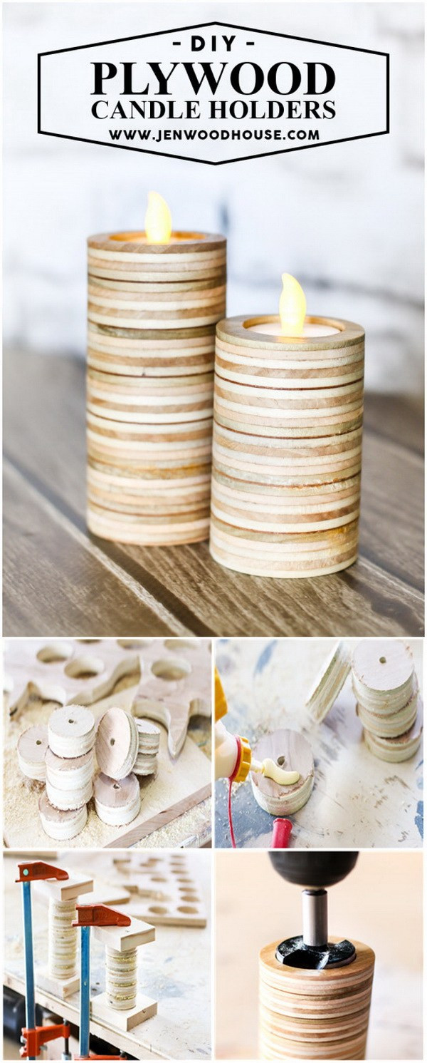 Vase with Tea Light Candle Holders Of 35 Amazing Diy Votive Candle Holder Ideas for Creative Juice In Scrap Plywood Candle Holders Make Diy Tea Light Candle Holders Out Of Scrap Plywood
