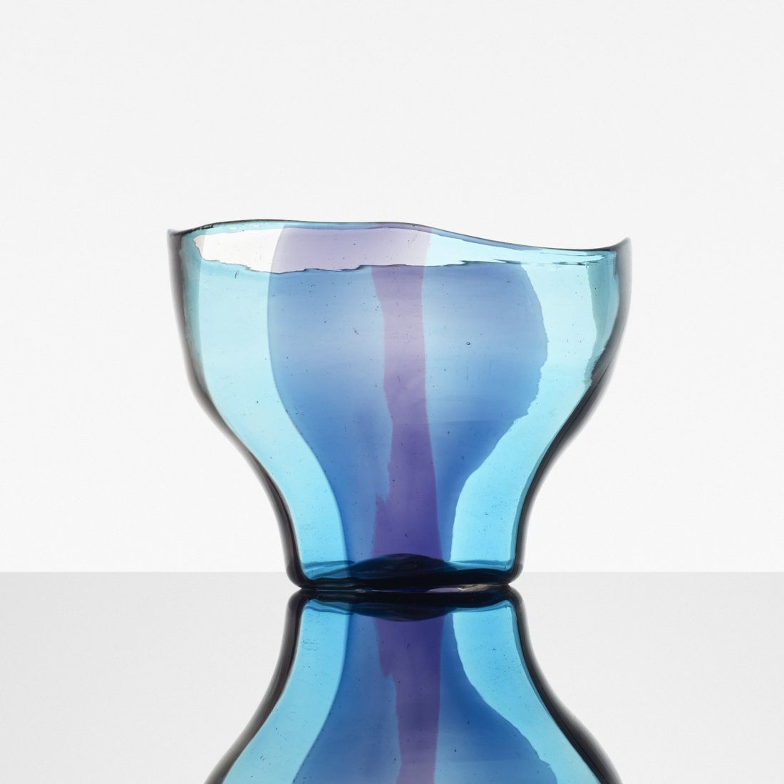 Venini Art Glass Vase Of Fulvio Bianconi and Massimo Vignelli Spicchi Bowl On Glass with Regard to Fulvio Bianconi and Massimo Glass Spicchi Bowl for Venini C1953