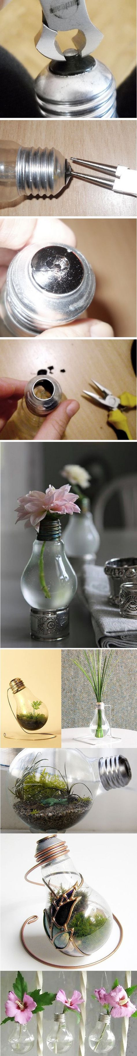 vidrios san miguel recycled glass vase of 40 best diy get creative images on pinterest bricolage good ideas with diy project recycled light bulbs by michelle winter cute gift idea for the office