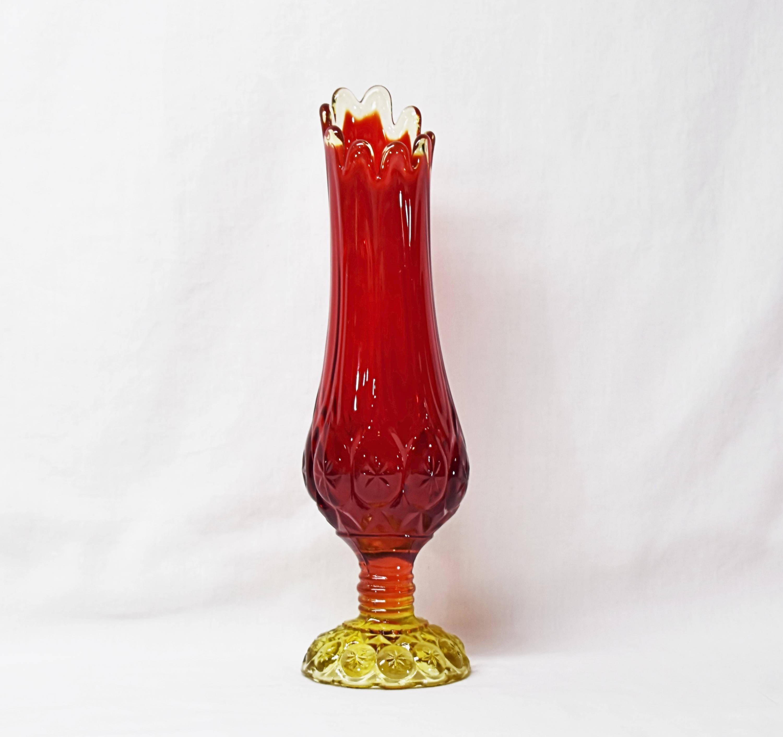 viking amberina glass vase of rocznika amberina stretch szkac282o wazon rubin czerwony wazon etsy for dc29fc294c28epowiac299ksz