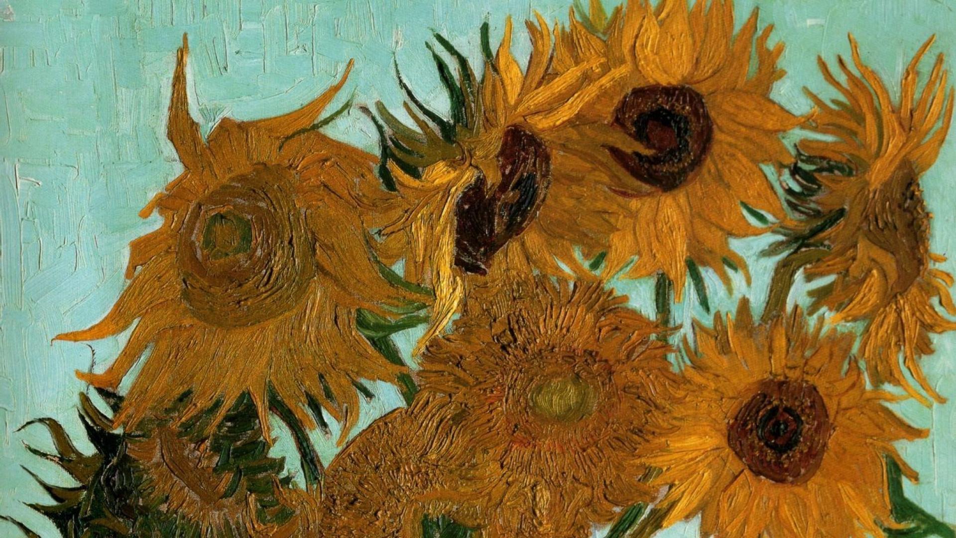 vincent van gogh vase with twelve sunflowers of 48 best free van gogh sunflower iphone wallpapers wallpaperaccess in 1920x1080 paintings vincent van gogh sunflowers vases still life wallpaper download a· 736x1104
