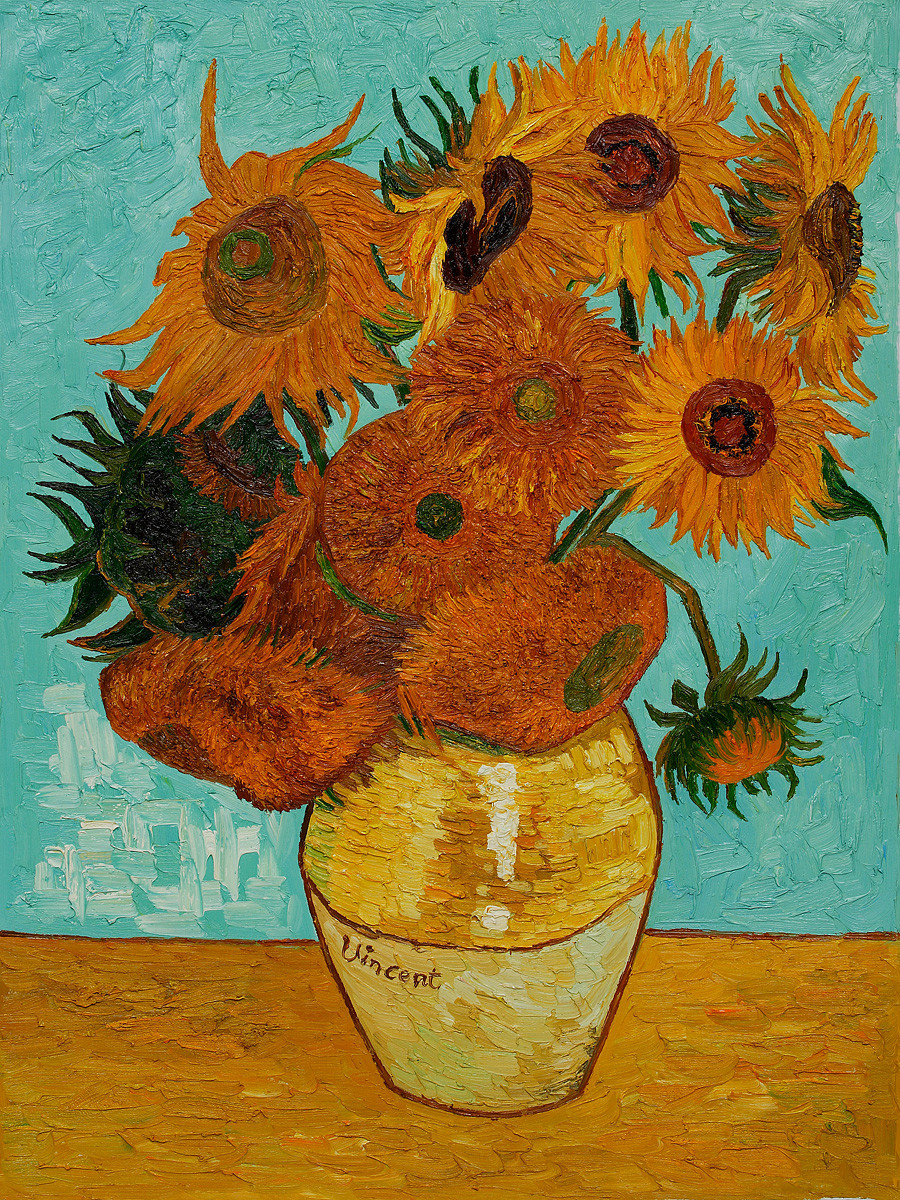 vincent van gogh vase with twelve sunflowers of csa lisa w b walker in sunflowers by vincent van gogh osa431