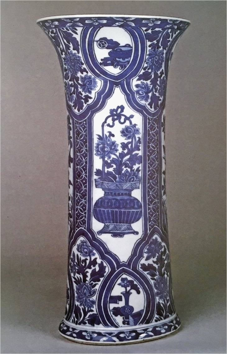 vintage blue bud vase of amazing inspiration on antique blue vase for use best home decor or with regard to a blue and white gu form vase kangxi 1662 1722