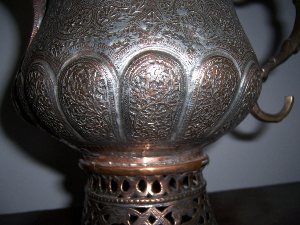 vintage brass vase of magnificent antique tea samovar from kashmir india highly carved intended for magnificent antique