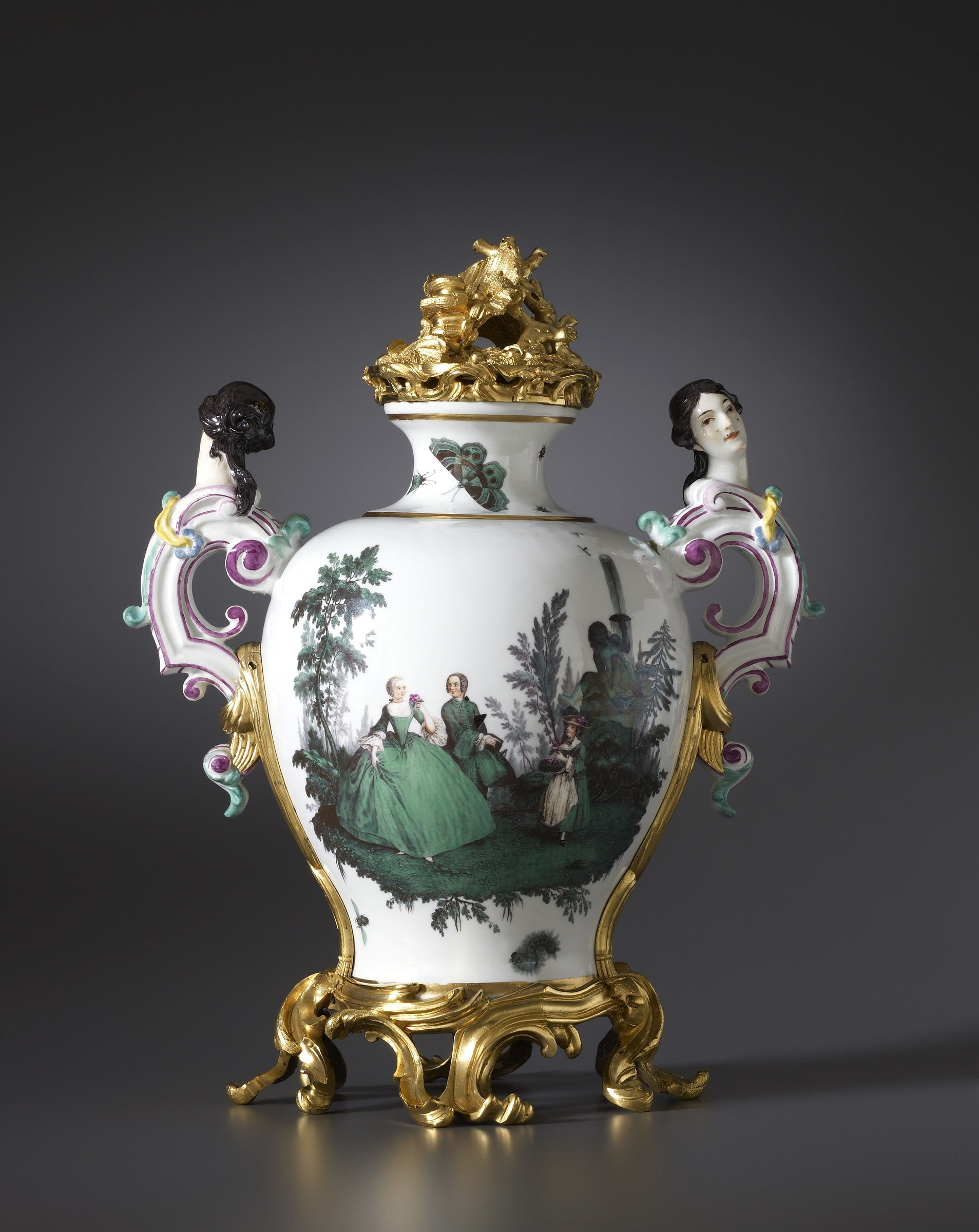 Vintage Capodimonte Vase Of Meissen A Louis Xv Vase by Meissen Almost Certainly Modelled by for A Louis Xv Vase by Meissen Almost Certainly Modelled by Johann Joachim Ka¤ndler
