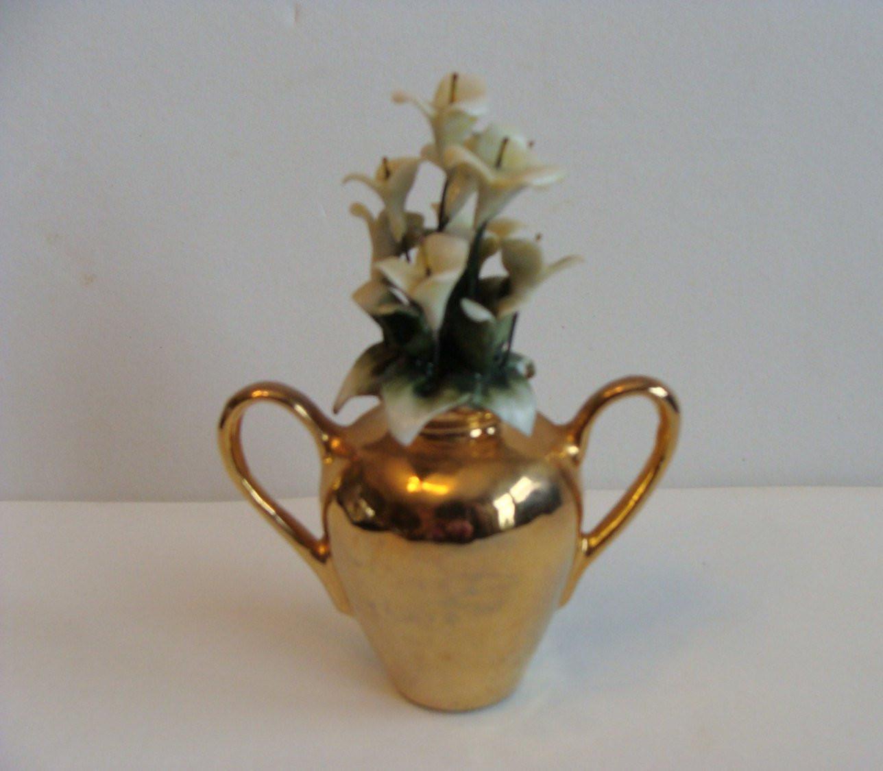 "Vintage Capodimonte Vase Of Miniature Capodimonte Gold Vase Mini Capodimonte Vase Mini with Regard to DŸ""Žzoom"