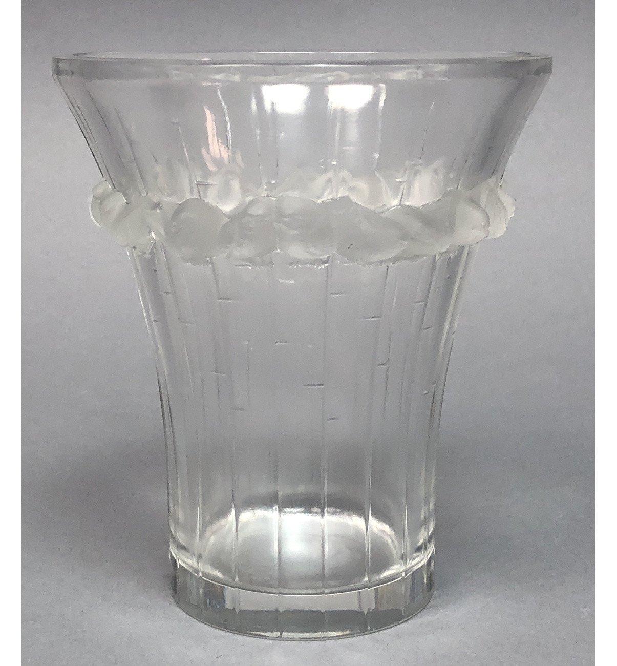vintage etched glass vase of ml 210 vintage lalique france crystal vase raised frosted crystal throughout next