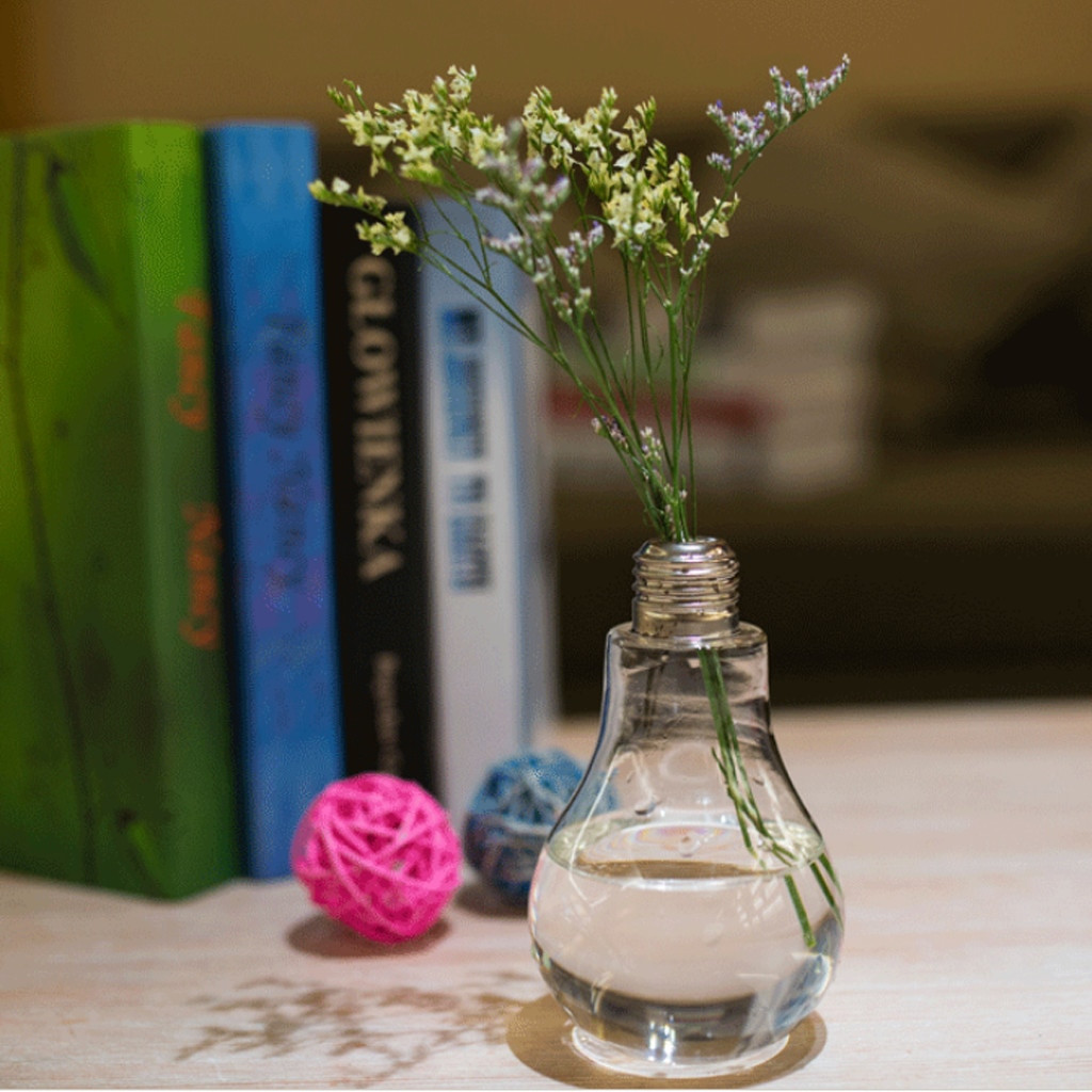 vintage glass bottle vase of magideal creative bulb shaped glass vase transparent table bottle in bulb shaped transparent table glass bottle vase for plant flower decoration