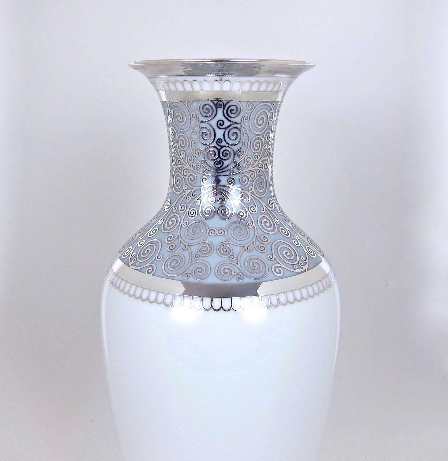 vintage green ceramic vase of large rosenthal porcelain silver overlay vase at 1stdibs regarding rosenthal porcelain silver overlay vase 06 master