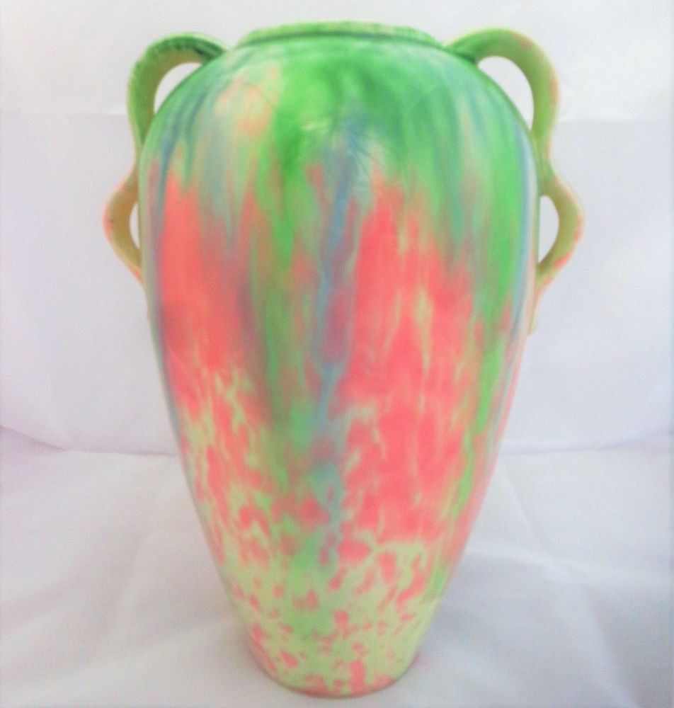 vintage green ceramic vase of vintage art deco sylvac pottery handled vase pastel pink blue green for vintage art deco sylvac pottery handled vase pastel pink blue green shape 1832 artdeco