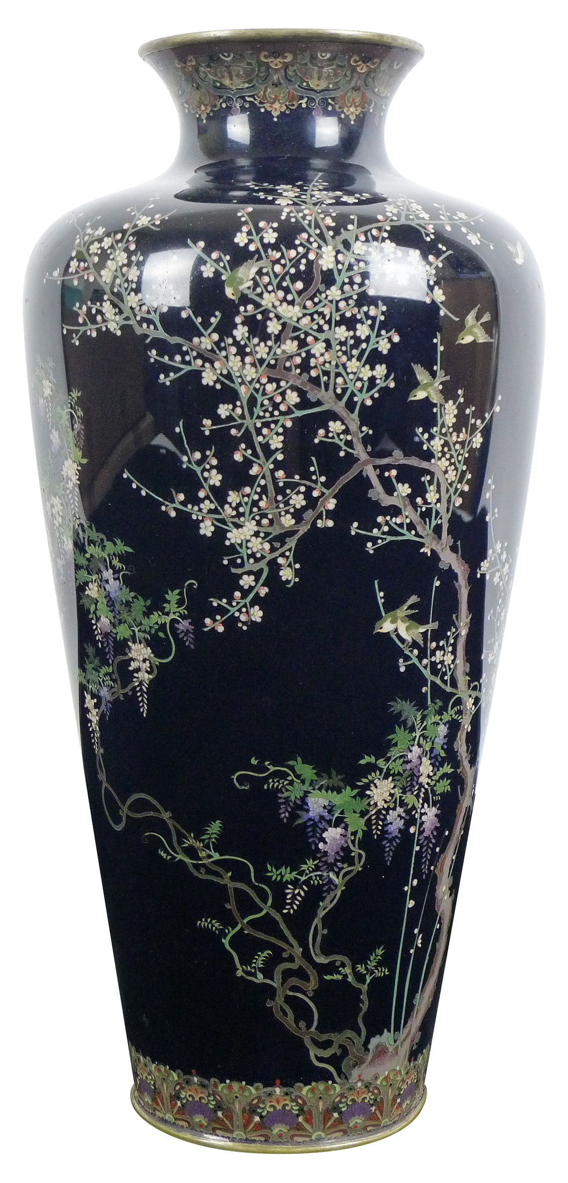 vintage japanese bronze vase of japanese cloisonne vases pics 13 od bronze cloisonne enamel ancient for japanese cloisonne vases collection japanese cloisonne vase silver wires decorated all round with of japanese cloisonne