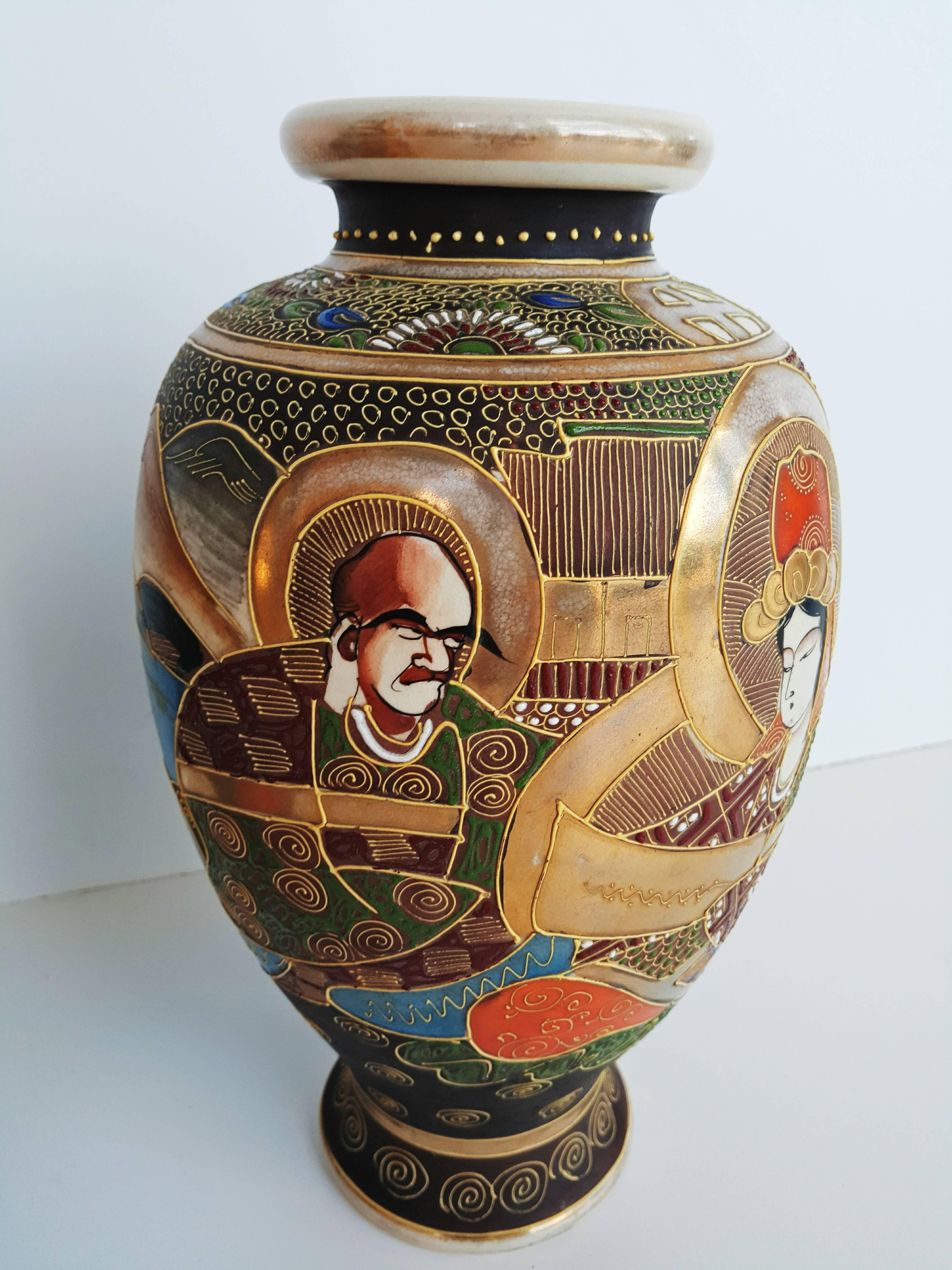 vintage japanese satsuma vase of early 20th century pair of japanese satsuma vases in painted ceramic within early 20th century pair of japanese satsuma vases in painted ceramic for sale at 1stdibs