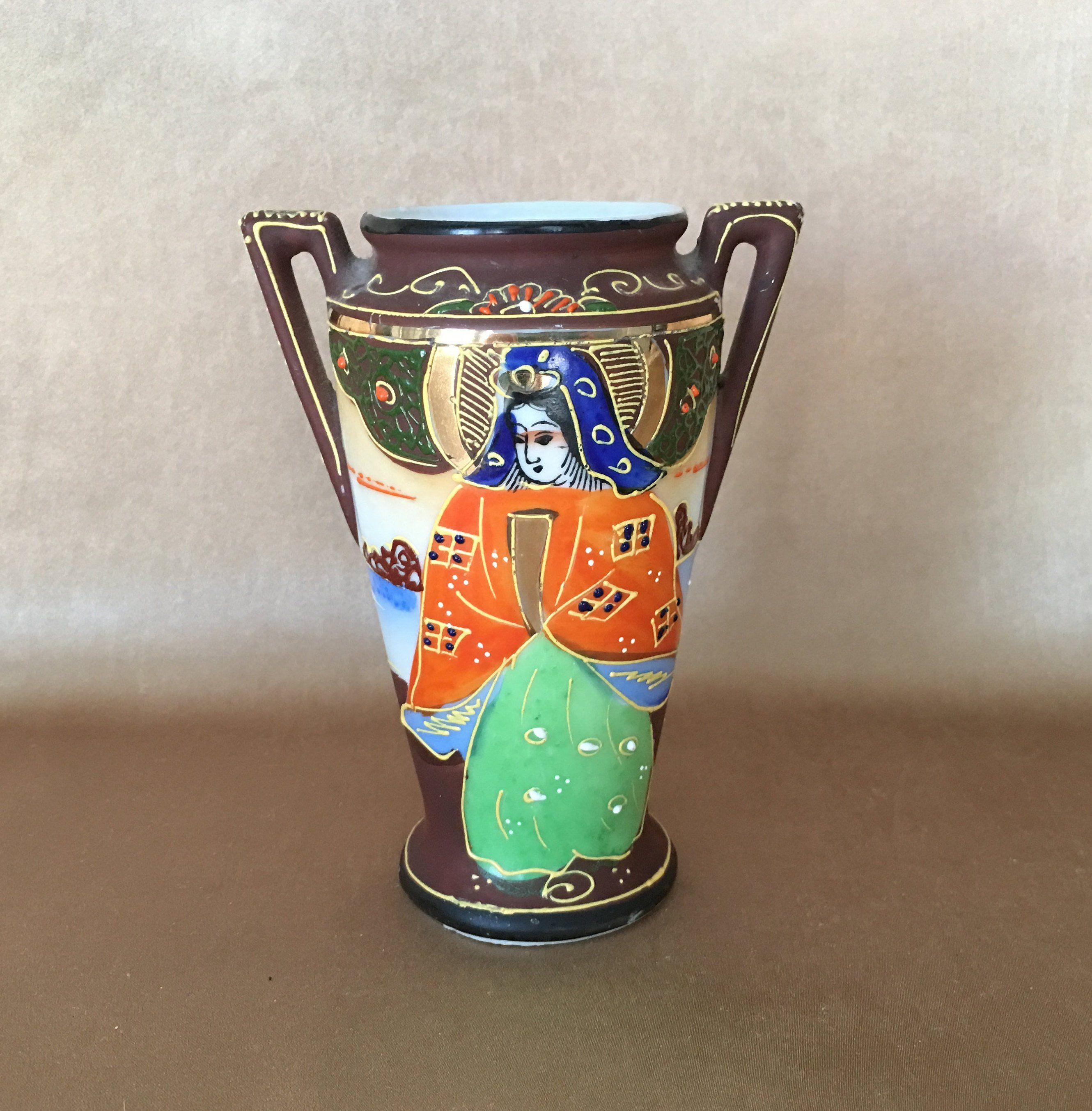 "vintage japanese satsuma vase of vintage satsuma vase moriage enamel mid century japan small etsy in dŸ""Žzoom"