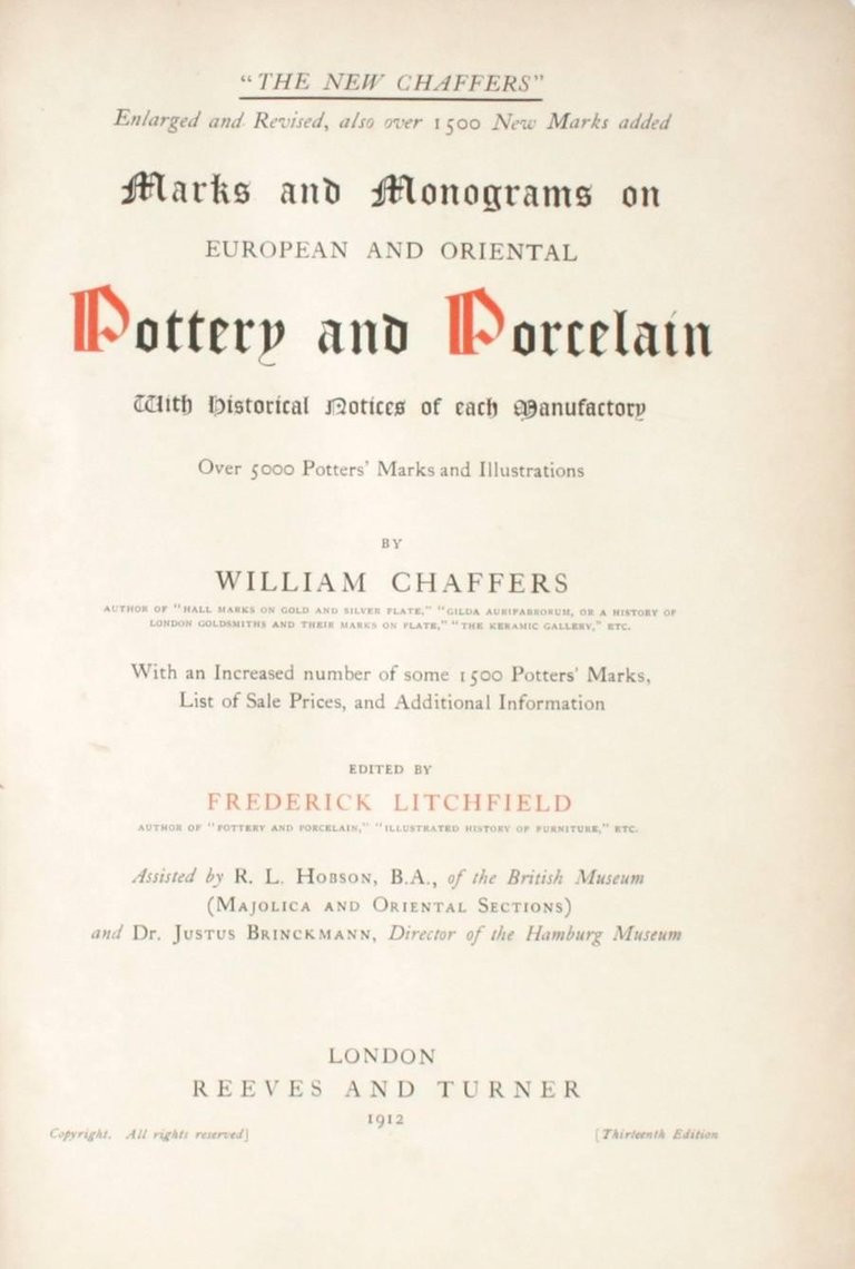 vintage japanese vase markings of the new chaffers marks and monograms on pottery and porcelain book pertaining to the new chaffers marks and monograms on pottery and porcelain london reeves and turner